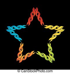 Colorful celtic star