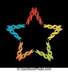 Colorful celtic star