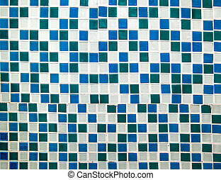 Colorful ceramic tiles wall decoration