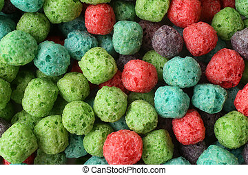 Colorful cereal balls, for backgrounds or textures