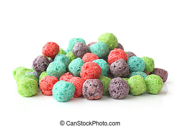 Colorful cereal balls