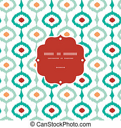 Colorful chain ikat frame seamless pattern background