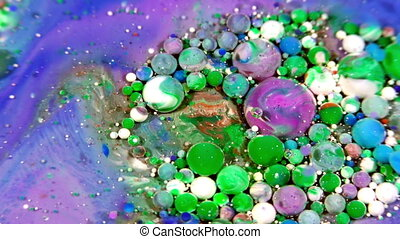 Colorful Chaos Ink Spread in Liquid and Spheres Turbulence...