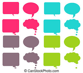 Colorful Chat Bubbles - vibrant chat bubbles in 4 different...