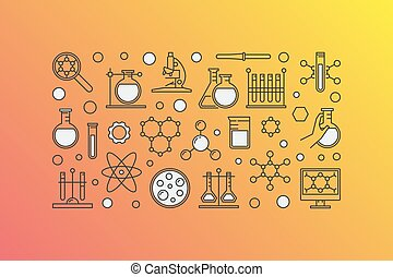 Colorful chemistry lab illustration
