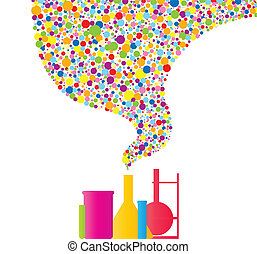 Colorful Chemistry - Set of various chemistry stuff with...