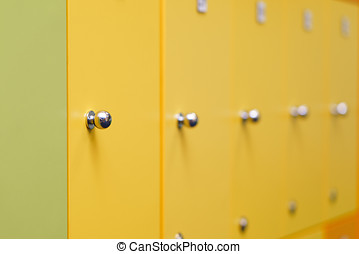 colorful children's lockers in the locker room the nursery