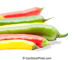 Colorful chili peppers