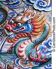 Chinese Dragon  - Colorful Chinese Dragon on wall