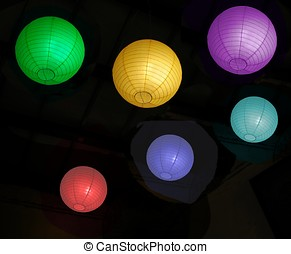 Colorful Chinese Lanterns - -- made from thin paper that is...