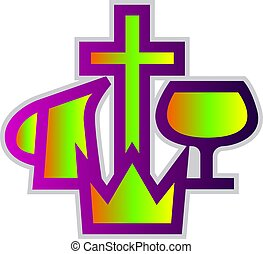 Colorful Christian Missionary Aliance symbol vector...