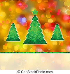 Colorful Christmas background and defocused lights. EPS 8 vector file included