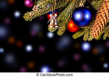 colorful christmas background with lights