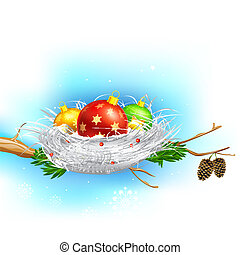 Colorful Christmas Bauble