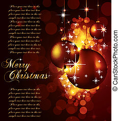 Colorful Christmas Baubles Background