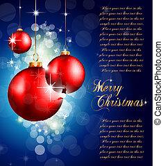 Colorful Christmas Baubles Background for Elegant Invitation...