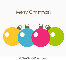 Colorful Christmas baubles. Vector illustration