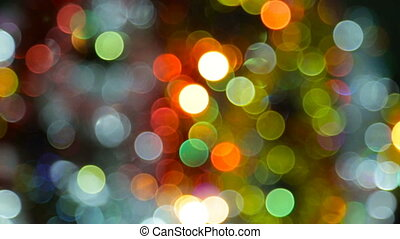 Colorful Christmas bokeh - Colorful New Year's bokeh.full hd...