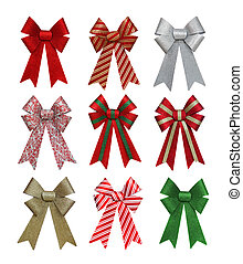 Colorful Christmas Bows
