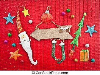 Vintage Female Elf Juggling Christmas Decorations Concept