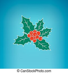 Colorful Christmas Holly Berry