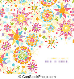 Colorful Christmas Stars Corner Decor Pattern Background -...