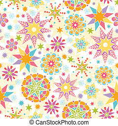 Colorful Christmas Stars Seamless Pattern Background