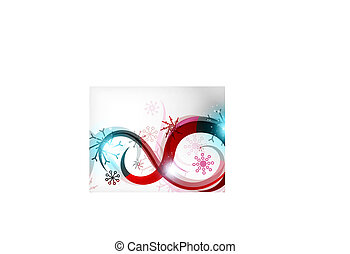 Colorful Christmas swirl abstraction with lights