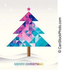 Colorful christmas tree background.