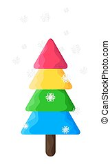 Colorful Christmas Tree Vector