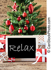 Colorful Christmas Tree With Text Relax
