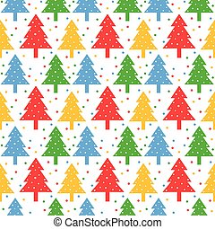 Colorful christmas trees pattern