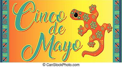 Colorful Cinco de Mayo Lizard Banner