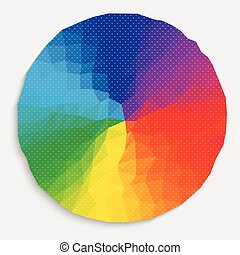 Colorful circle and dot pattern wallpaer