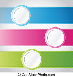colorful circle banner infographics