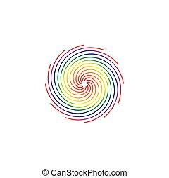 colorful circle blend rainbow icon abstract background