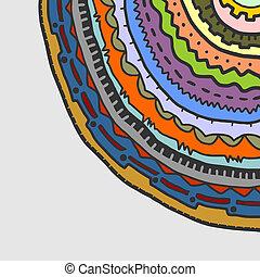 Colorful circle corner