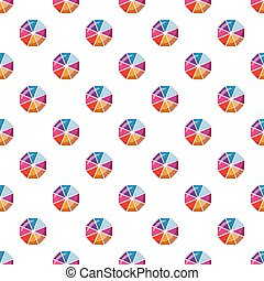 Colorful circle divided into eight parts pattern