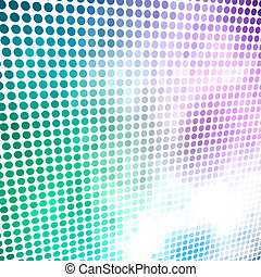 Colorful circle mosaic vector background.