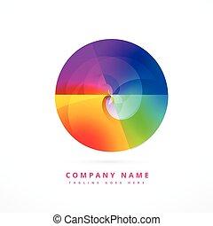colorful circle shape design art