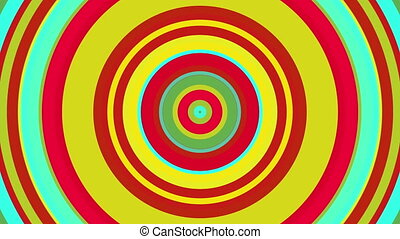 Colorful circle with hypnotic spinning motion, computer generated. 3d rendering of abstract vortex background