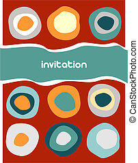 Colorful circles pattern on red