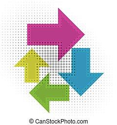 colorful circular arrow