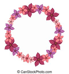 colorful circular border with flowers