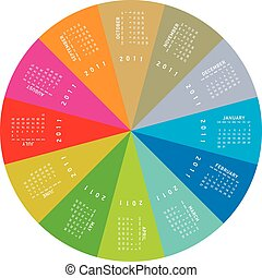 Colorful Circular Calendar 2011 - colorful calendar for...