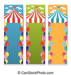 Colorful Circus Theme Banner