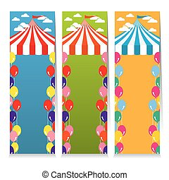 Colorful Circus Theme Banner