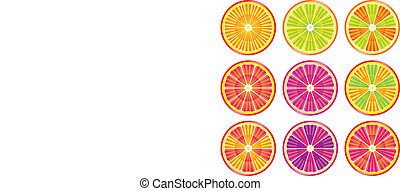 colorful citrus slices