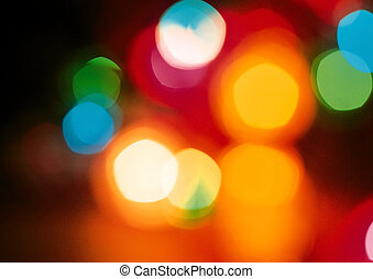 Colorful city bokeh lights