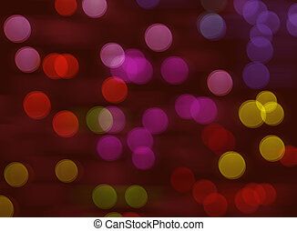 Colorful city light at night bokeh